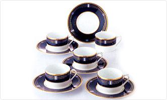ヴィギンブルーコーヒー碗皿5客セット